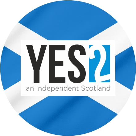 Yes2 car sticker 100mm x 100mm